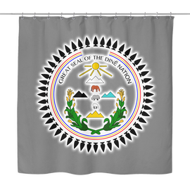 Diné Nation Seal Shower Curtain