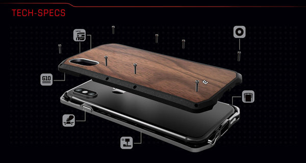 Element Case KATANA Stainless Steel Case for iPhone XS/X, XR, XS MAX - Element Case, Dango, EDC, STM, iPhone Case, table case