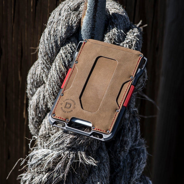Dango M1 Maverick Wallet - Single Pocket Leather  - RFID Block (Made in USA) - CaseMotions