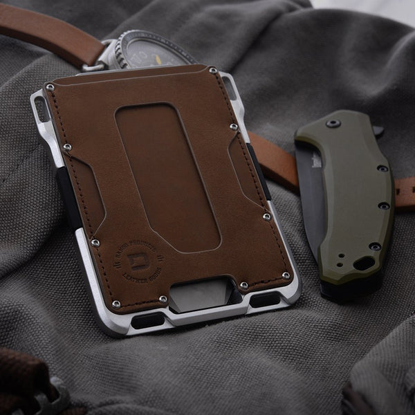Dango M1 Maverick Wallet - Raw Leather Single Pocket & 4 Pocket Bifold - RFID Block (Made in USA) - CaseMotions