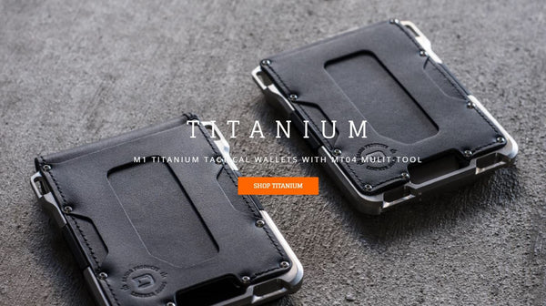 Dango M1 TITANIUM Maverick Tactical Wallet (Made in USA) - Element Case, Dango, EDC, STM, iPhone Case, table case