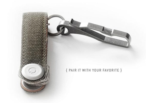 HANDGREY KIN / TITANIUM Key & Belt hook - KIN {no.6} & {no.9} - Element Case, Dango, EDC, STM, iPhone Case, table case