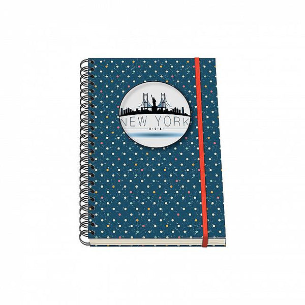 Cuaderno Vesta City Espiral - Tamaño A5 - New York