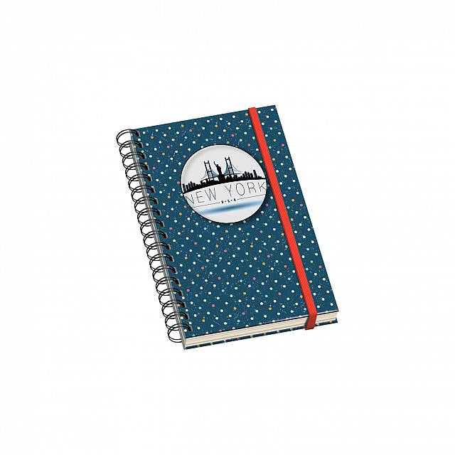 Cuaderno Vesta City Espiral - Tamaño A6 - New York