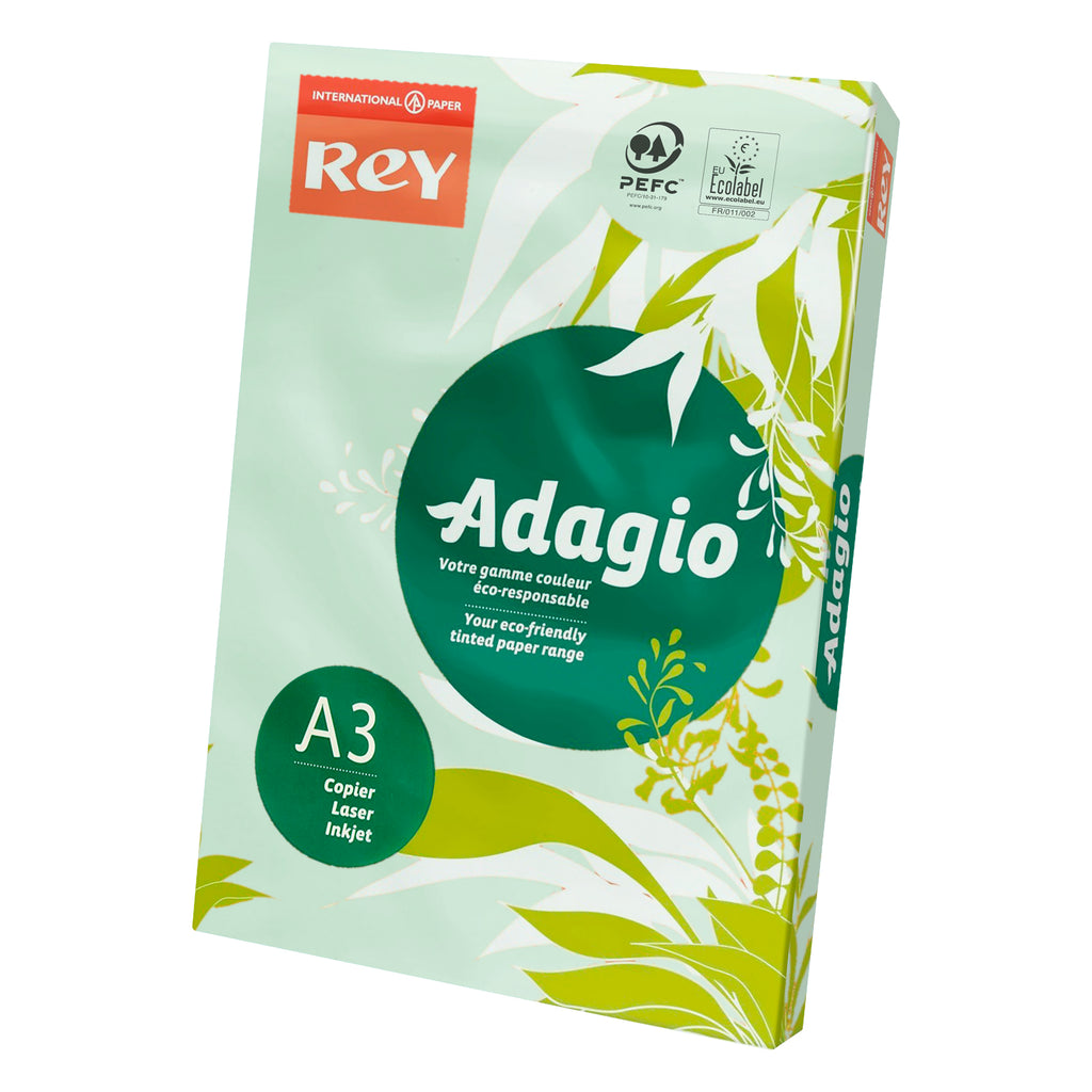 Papel Adagio de color DIN-A3 - 80 g - 500 hojas. Color Verde (Pastel)