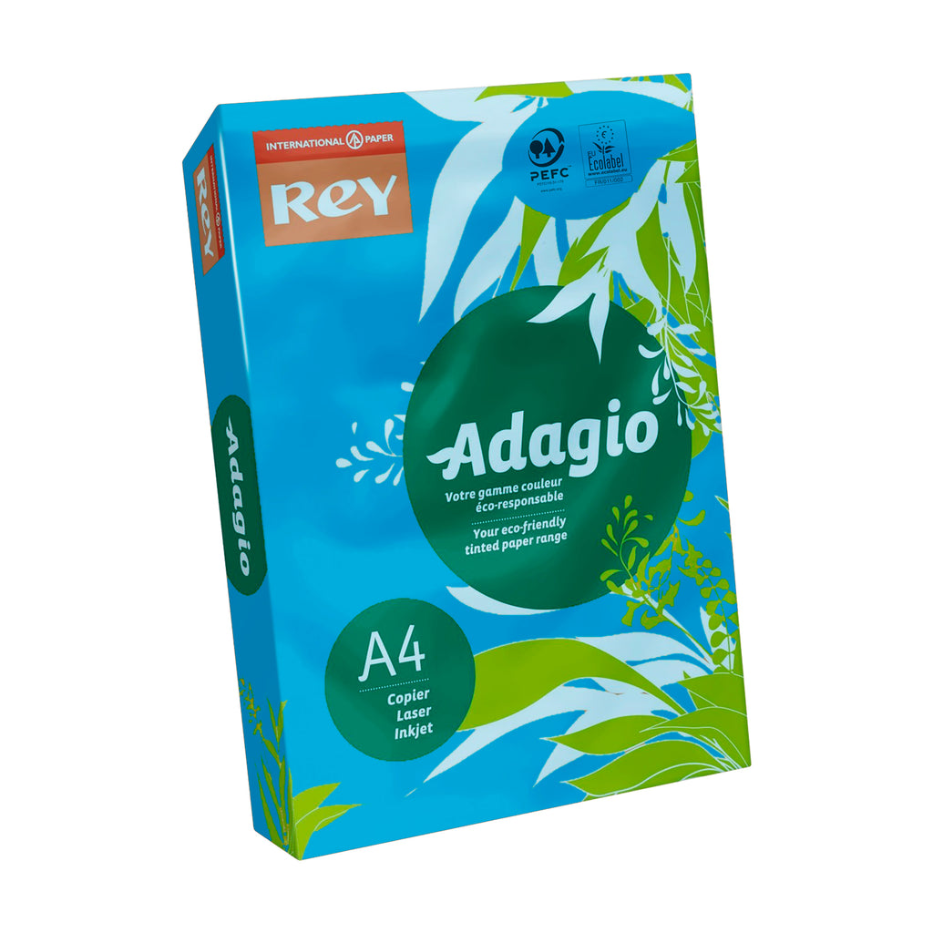 Papel Adagio de color DIN-A4 - 80 g - 500 hojas. Color Azul (Intenso)