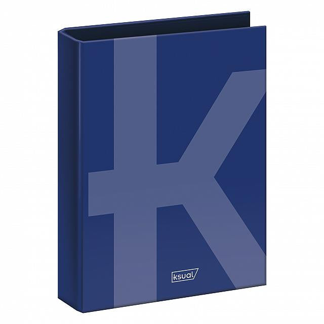 Ksual - Carpeta folio 4 anillas de 40 mm Azul