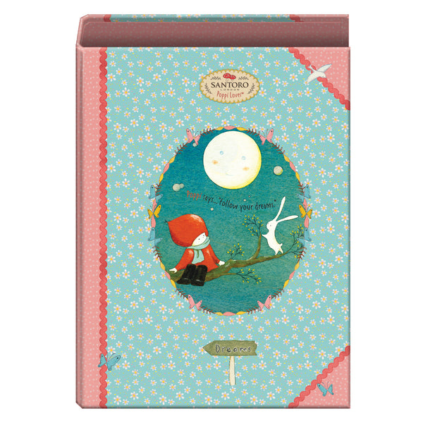 "Santoro ""MOON"" Poppi Loves - Carpeta 4 anillas 40 mm"