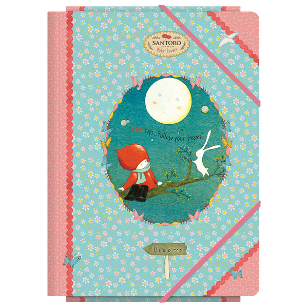 "Santoro ""MOON"" Poppi Loves - Carpeta con solapas Folio"