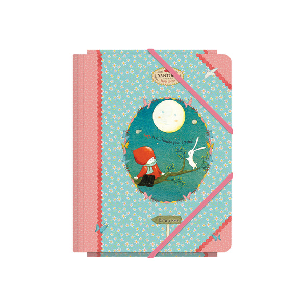"Santoro ""MOON"" Poppi Loves - Carpeta con solapas A5"