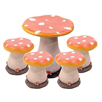 Mushroom Table and Stools