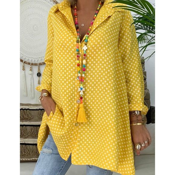 Women's Summer Polka Dot Blouse