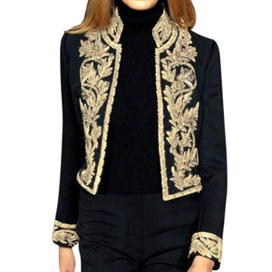 In Fashion Gold Look Embroidered Jacket