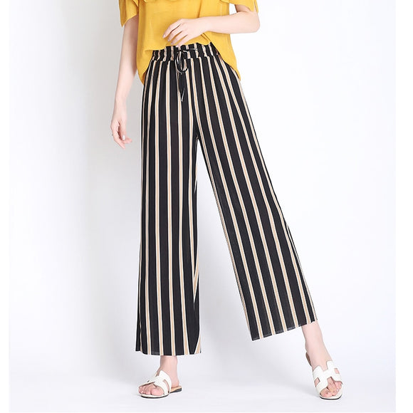 Women's Summer Trendy Striped Trousers