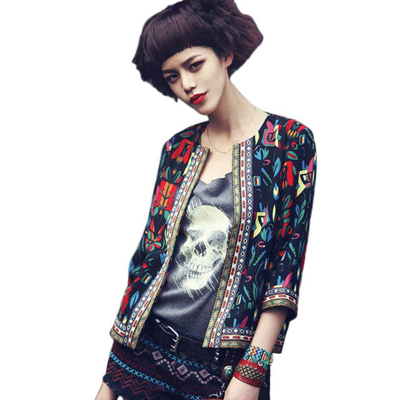 Women's Fashion Trend Floral Jacket