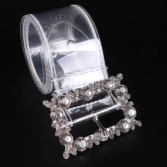 Women's Fashion Crystal Buckle Belt