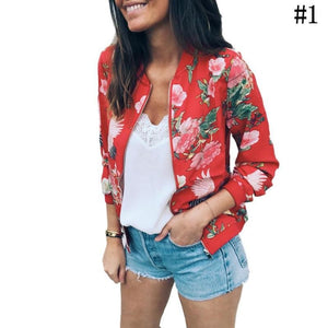 In Fashion Floral Zipper Jacket