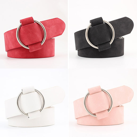 Ladies Faux Leather Elegant  Belt