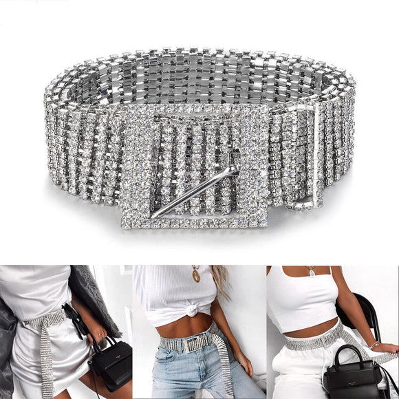 Ladies High Fashion Diamante Look Belt