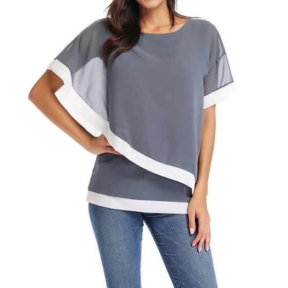 Women's Stylish Chiffon Blend Blouse