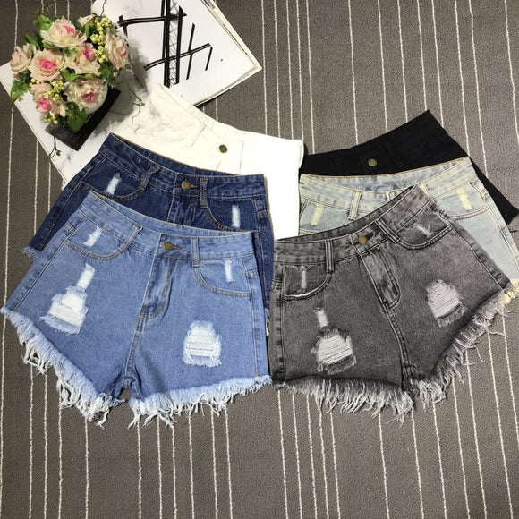 New Hot Denim Ripped Shorts