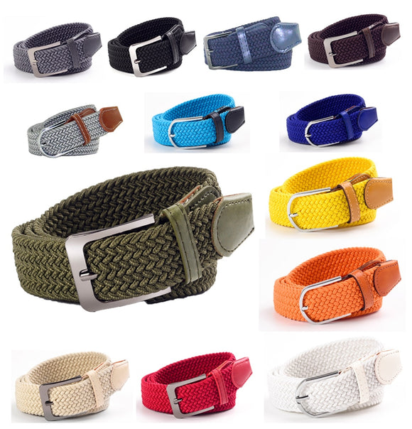 Hot New Fashion Ladies Elastic Woven Belt