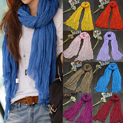 Women's Fashion Candy Colours Voile Scarf