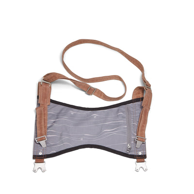 Festival or yoga mat carrier with gray topo design - aTana Baba Wrap