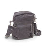 Crossbody bag - organic waxed canvas, charcoal gray - aTana Binghi