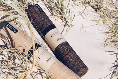 Eco-Friendly Organic Yoga Mat - Dark Bark