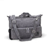 Messenger bag made from organic waxed canvas. Charcoal gray - aTana Day Tripper