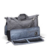 Messenger bag made from organic waxed canvas. Charcoal gray, gray topo recycled polyester lining - aTana Day Tripper