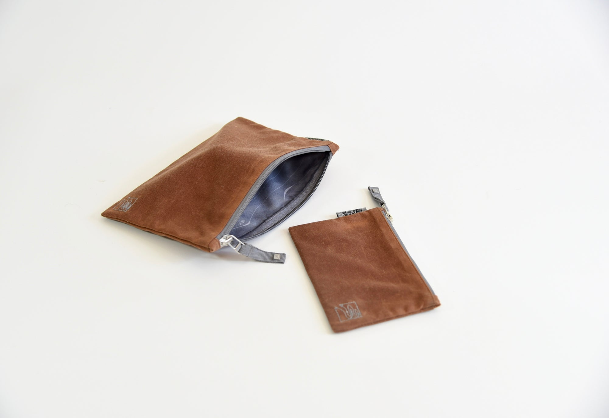 organic waxed canvas zippered pouch