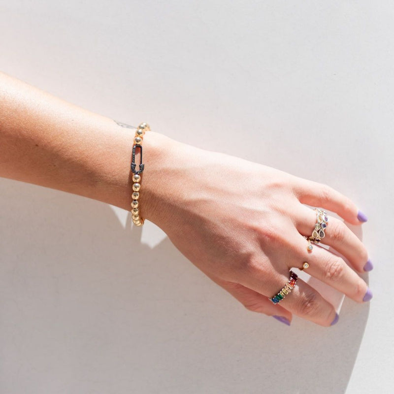 Safety Pin Stretch Bracelet