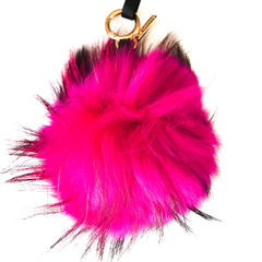 pink raccoon key chain