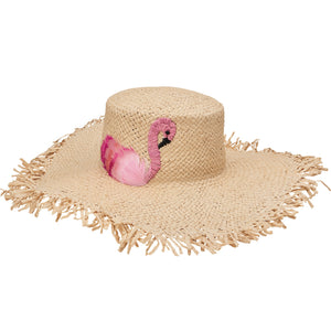 Flamingo Floppy Straw Hat