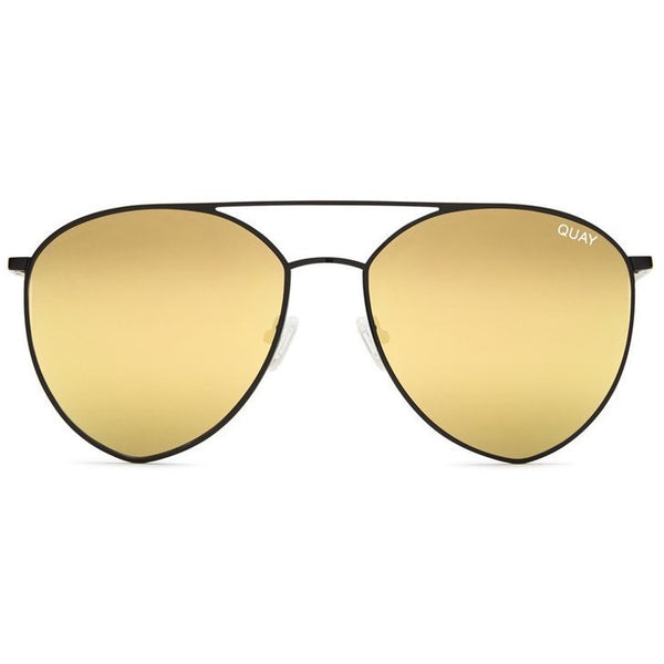 Yellow lens teardrop sunglasses
