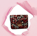 XOXO Mini Black Crossbody Bag