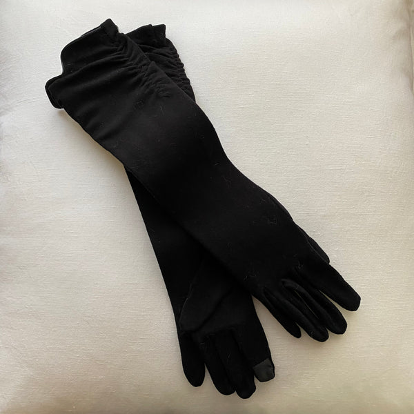 Black Long Texting Glove