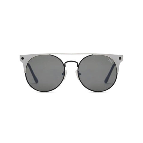 classic round sunnies set inside an edgy reflective metal frame