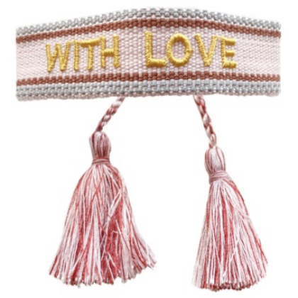 With Love Pink Friendship Bracelet