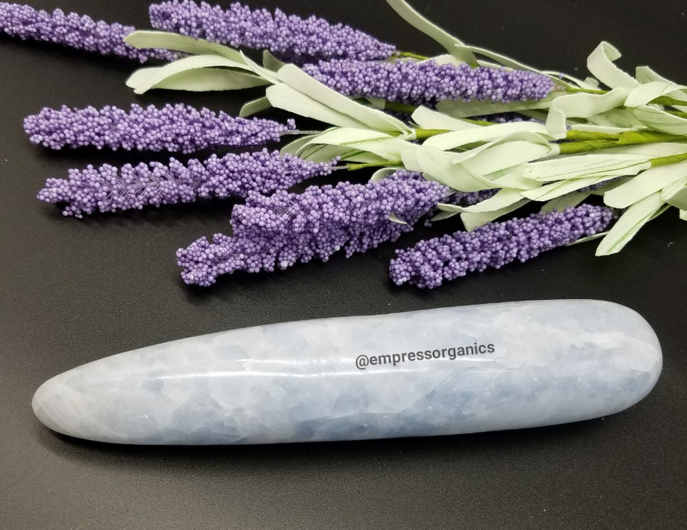 Blue Calcite Wand