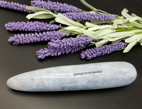 Blue Calcite Yoni Wand