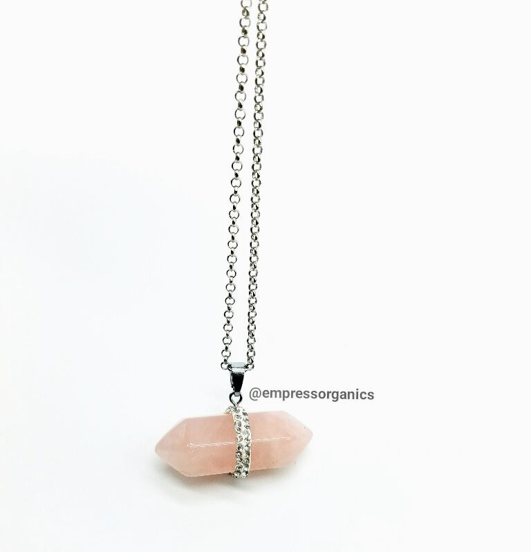 Rose Quartz Necklace & Pendant