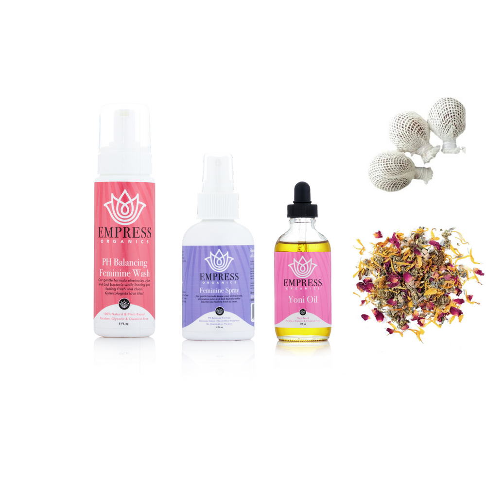 Load image into Gallery viewer, Empress Organics Feminine Care Giftset (5 Items $85)