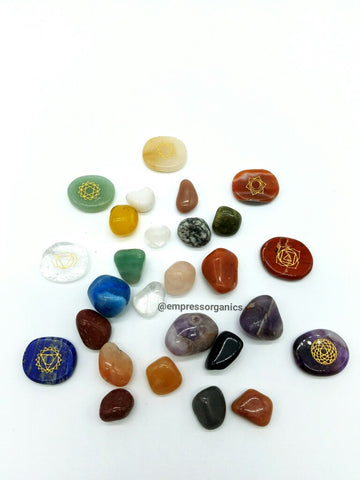 20 Piece Tumbled Gemstone Set