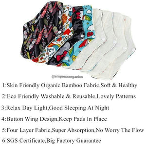 Load image into Gallery viewer, Organic Cloth Reusable Sanitary Pads