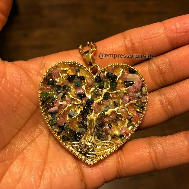 Heart Shape Tree of Life Necklace & Pendant