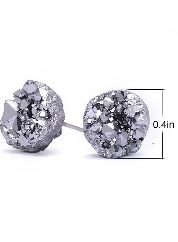 Load image into Gallery viewer, Gemstone Cluster Small Stud Earrings