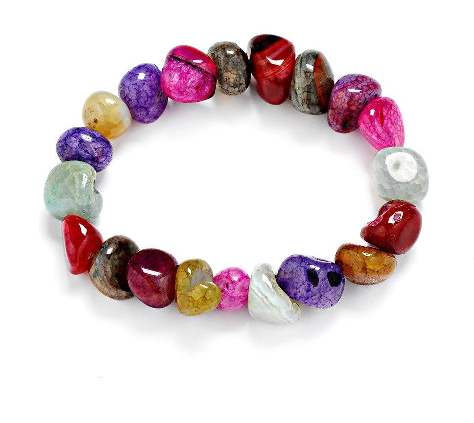 Load image into Gallery viewer, Tumbled Gemstone Elastic Bracelet